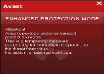 Avast Enhanced Protection Mode Screenshot