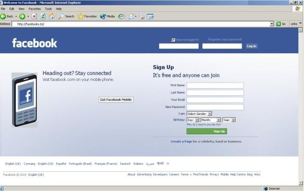 fake facebook site download