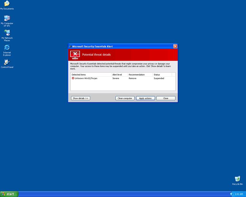 Bat 2 Exe Remove Microsoft Secur...