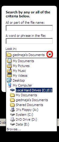 select local hard drives