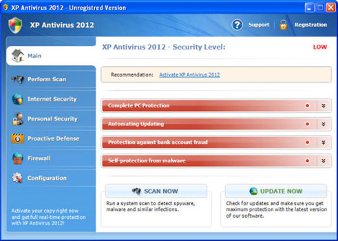 XP Antivirus 2012: Un falso Anti-Virus