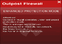 Outpost Firewall Enhanced Protection Mode
