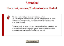 Attention For security reasons Fake Alert Screenshot 1