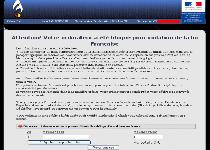 Attention! Votre ordinateur a ete pour violation Ransomware Screenshot 1