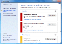 Fake Windows Action Center Screenshot 1