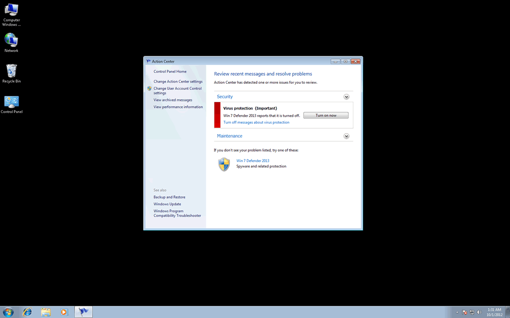 Remove Windows 7 Defender 2013 (Removal ...