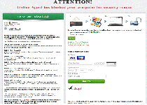 Attention Online Agent has blocked your computer for security reason Ransomware Screenshot 1