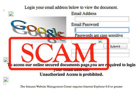 fake 'urgent order' phishing emails use google docs to collect