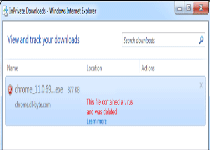 filename.exe contained a virus and was deleted Fake Message Screenshot 1