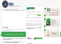 White Screen FBI GreenDot Virus Screenshot 1
