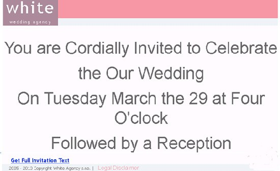you are invited to our wedding spam message