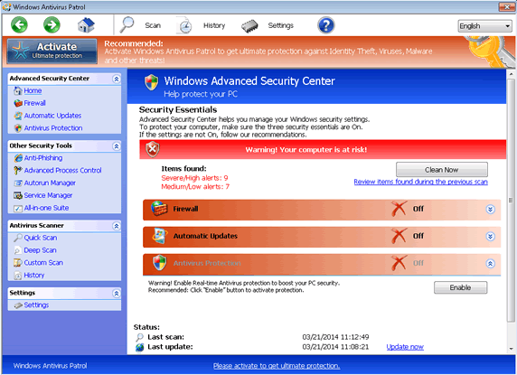 how to delete antivirus from windows 7