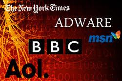 adware hits aol bbc nyt msn